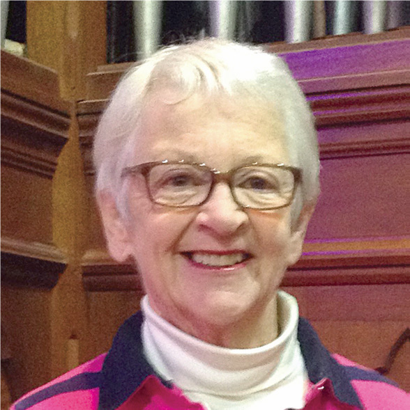 Parish Warden of St Columba's Church, Elizabeth Bleby.