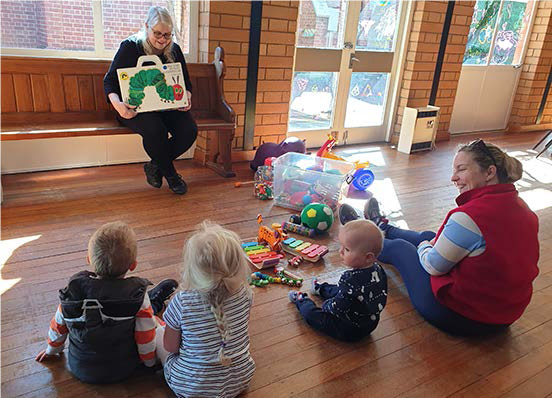 The playgroup meeting at St Columba's.